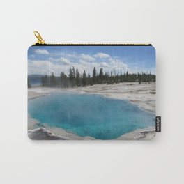 Beautiful Blue Pool at Yellowstone National Park Hot Tub Carry-All Pouch