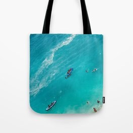 Beach from above Tote Bag