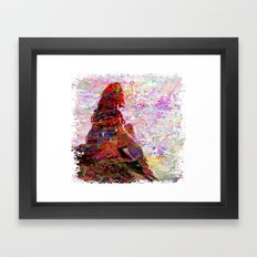DayDreaming - Intense Multi-Color Vibrant Abstract Mixed Media Digital Painting Framed Art Print