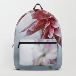 Red columbine flowers Backpack