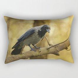Crow on the branch Rectangular Pillow