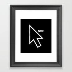 Cursor Framed Art Print