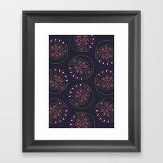 Neon Blossom Framed Art Print