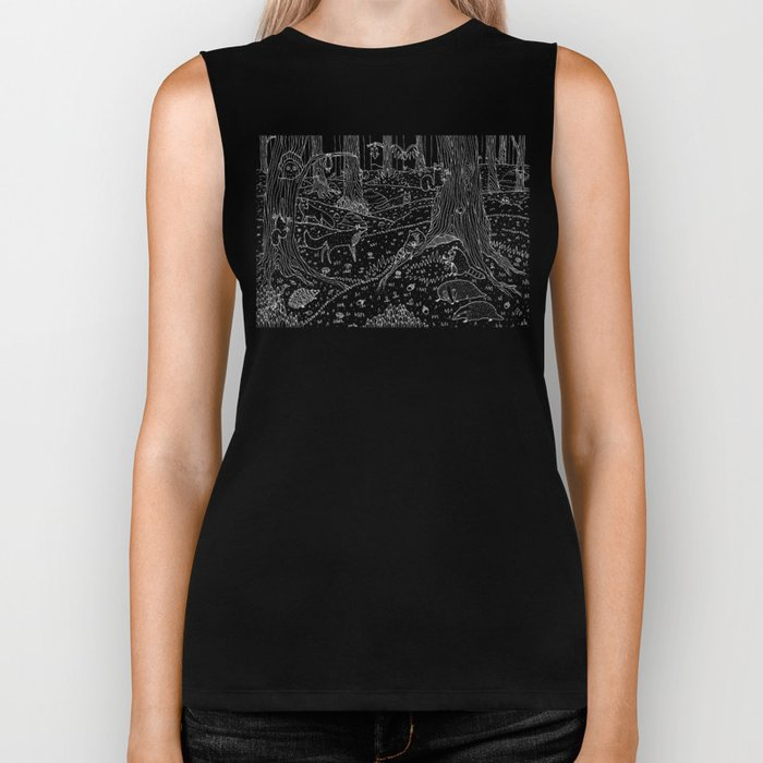 Nocturnal Animals of the Forest Biker Tank