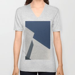 Abstract architecture against blue sky Unisex V-Neck