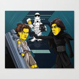 The Force Awakens - Simpsonized Canvas Print