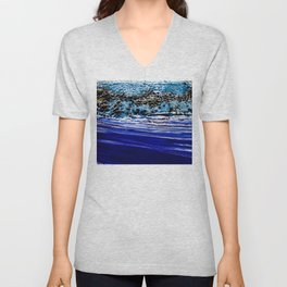 ...blurred line of horizons Unisex V-Neck