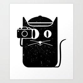 Cat & Camera Art Print