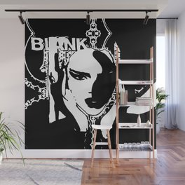 KENDALL JENNER - black and white Wall Mural