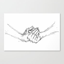 clasped hands Canvas Print