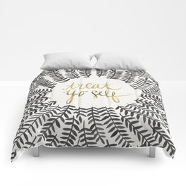 Treat Yo Self – Black & Gold Comforters