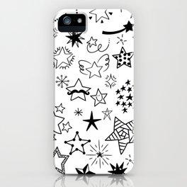 Doodle Stars iPhone Case