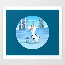 Olaf In Summer Art Print