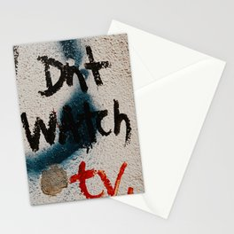 don't watch tv Stationery Cards