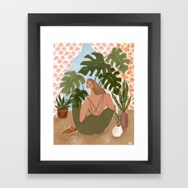 Bringing the outside in Framed Art Print