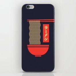 Ramen Japanese Food Noodle Bowl Chopsticks - Black iPhone Skin