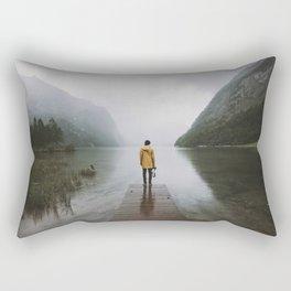 Mountain Lake Vibes - Landscape Photography Rectangular Pillow