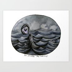 her Atlantic... Art Print