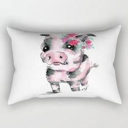 Floral Piglet Rectangular Pillow