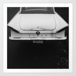 Black and White Classic 1960s Car Art Print