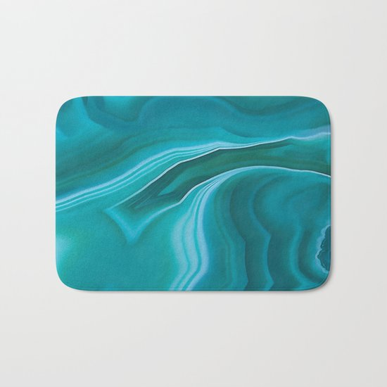 Agate sea green texture Bath Mat