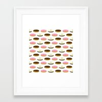 donuts Framed Art Prints featuring Donuts by Sara Showalter