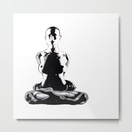 The YOGA LADY - LIFE CURRENT series Metal Print