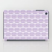 macaroon iPad Cases featuring Purple Macaroon Pattern - Lavender Macaron by French Macaron Art Print and Decor Store