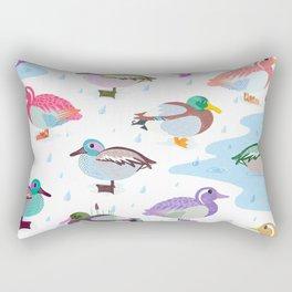 Nice Weather For Ducks Rectangular Pillow