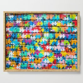 Rainbow Puzzle Serving Tray