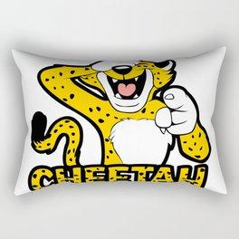 cackling cheetah. Rectangular Pillow