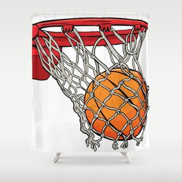 ball basket Shower Curtain