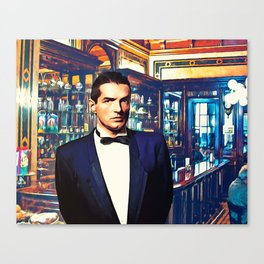 Falco at the Cafe Canvas Print