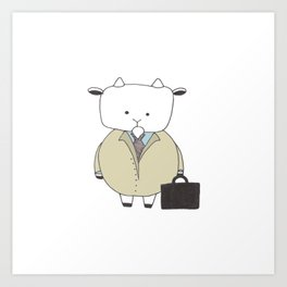 Businessman Goat - Greatest Of All Time Art Print