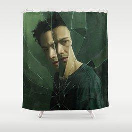 Down the rabbit hole Shower Curtain