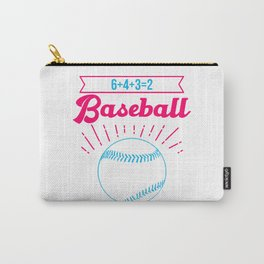 Baseball Math 6 4 3 2 Double Play Funny Sports Player Carry-All Pouch