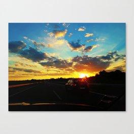 sunset highway Canvas Print
