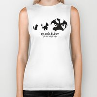 evolution Biker Tanks featuring evolution by Ainy A.