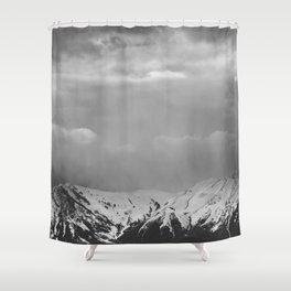 Mountain Landscape in the Rain Shower Curtain