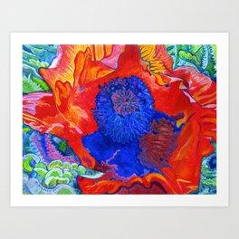 Japanese Poppy No.9 Art Print
