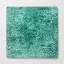 Lucite Green Oil Painting Color Accent Metal Print