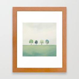 Green Sunny Field II Framed Art Print