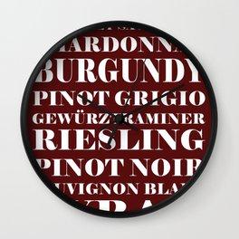 Wine Celebration Wall Clock