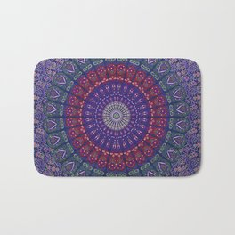 Blue Mandala Hippie Design Bath Mat