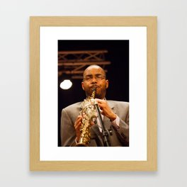 Melvin Butler from the Brian Blade and the Fellowship Band. XII Panama jazz Festival Framed Art Print