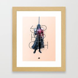 Heroes and Villains Series 2: Sephiroth Framed Art Print
