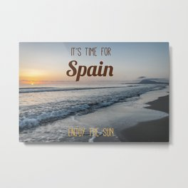 Time for spain Metal Print