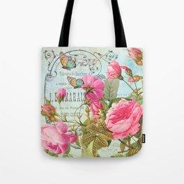 Vintage Flowers #3 Tote Bag
