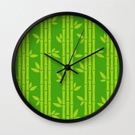 Evergreen Chinese Bamboos Wall Clock