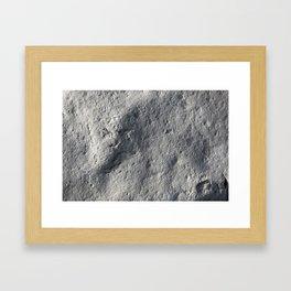 Rock Face Style Framed Art Print